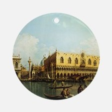 Canaletto The Pier Round Ornament