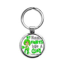D Nana Fights Like Girl Lymphoma 42 Round Keychain