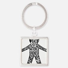 Fruits of the spirit Square Keychain