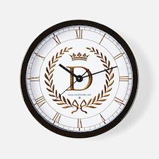 Napoleon initial letter D monogram Wall Clock