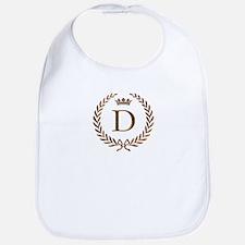 Napoleon initial letter D monogram Bib