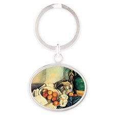 Paul Cezanne Still Life With Apples Oval Keychain