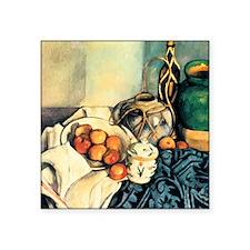 "Paul Cezanne Still Life Wit Square Sticker 3"" x 3"""