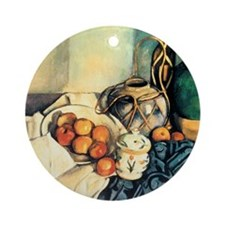 Paul Cezanne Still Life With Apples Round Ornament