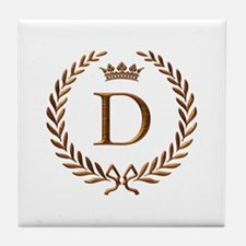 Napoleon initial letter D monogram Tile Coaster