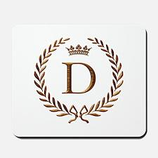 Napoleon initial letter D monogram Mousepad
