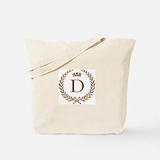 Napoleon initial letter D monogram Tote Bag