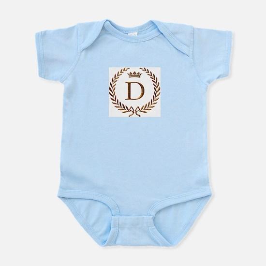 Napoleon initial letter D monogram Infant Creeper