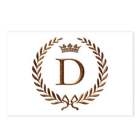 Napoleon Initial Letter D Monogram Postcards Pack By