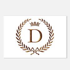 Napoleon initial letter D monogram Postcards (Pack