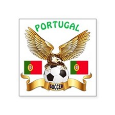 "Portugal Football Designs Square Sticker 3"" x 3"""