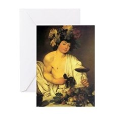 Caravaggio The Young Bacchus Greeting Card