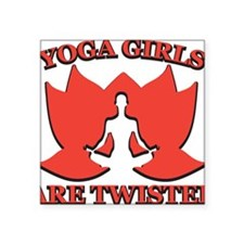 "Witty Yoga Square Sticker 3"" x 3"""