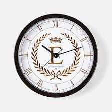 Napoleon initial letter E monogram Wall Clock