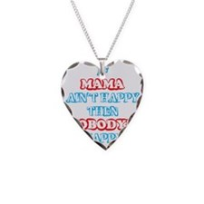 Make MAMA Happy Necklace Heart Charm