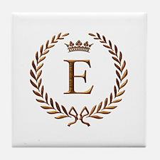 Napoleon initial letter E monogram Tile Coaster