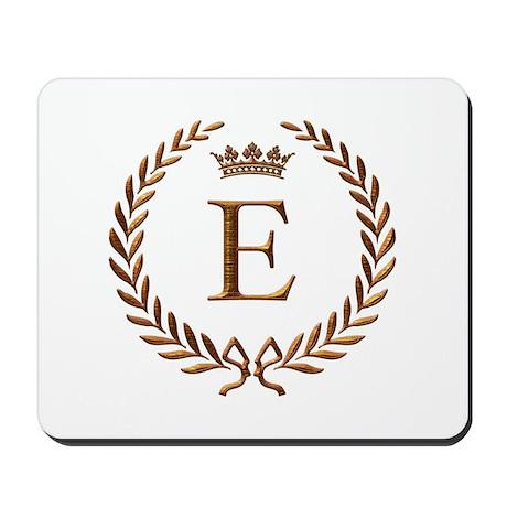 Napoleon Initial Letter E Monogram Mousepad By Jackthelads