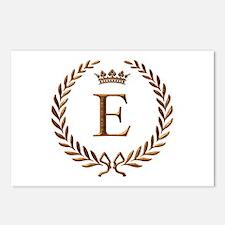 Napoleon initial letter E monogram Postcards (Pack