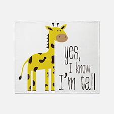 Im Tall Throw Blanket