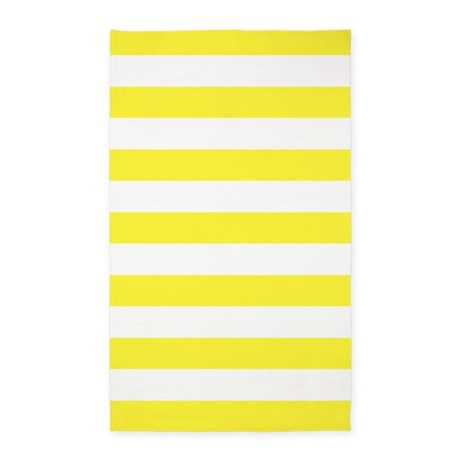 lemon yellow and white stripe 3 39 x5 39 area rug by inspirationzstore. Black Bedroom Furniture Sets. Home Design Ideas