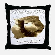 Cute Uss virginia Throw Pillow