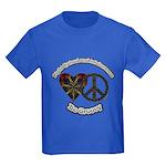 Tie Dye Art Be Groovy Kids Dark T-Shirt