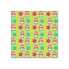 """Matryoshka Duvet Cover Square Sticker 3"""" x 3"""""""