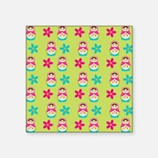 "Matryoshka Duvet Cover Square Sticker 3"" x 3"""