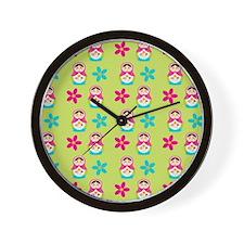 Matryoshka Duvet Cover Wall Clock