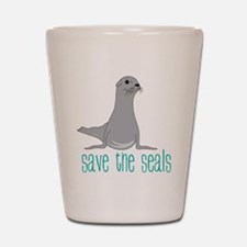 Save The Seals Shot Glass