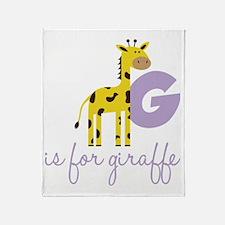 G Is For Giraffe Throw Blanket