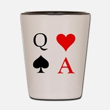 Annie & Britta, Ace of Hearts and Queen Shot Glass