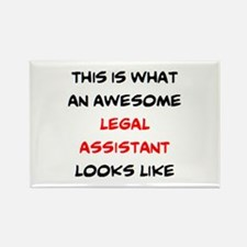 awesome legal assistant Rectangle Magnet