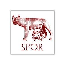 """Lupa Capitolina r Square Sticker 3"""" x 3"""""""