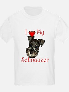 I love my Schnauzer Pup T-Shirt