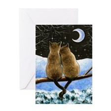 Cat 584 Greeting Card