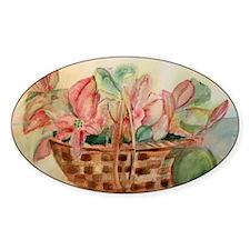 Flowers in Basket Decal