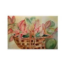 Flowers in Basket Rectangle Magnet
