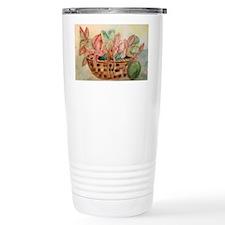 Flowers in Basket Travel Mug