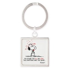 Snoopy Valentines Day Square Keychain