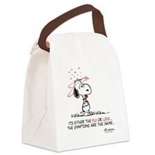 Snoopy Valentines Day Canvas Lunch Bag