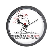 Snoopy Valentines Day Wall Clock
