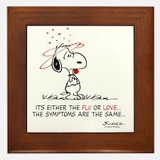 Snoopy Valentines Day Framed Tile