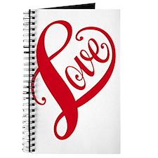 red love heart Journal