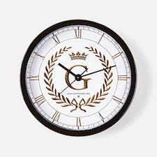 Napoleon initial letter G monogram Wall Clock