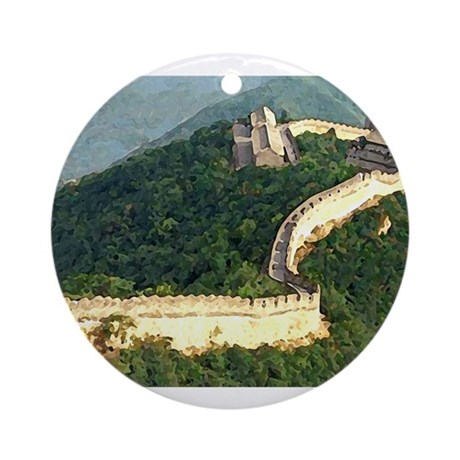 The Great Wall Ornament (Round)