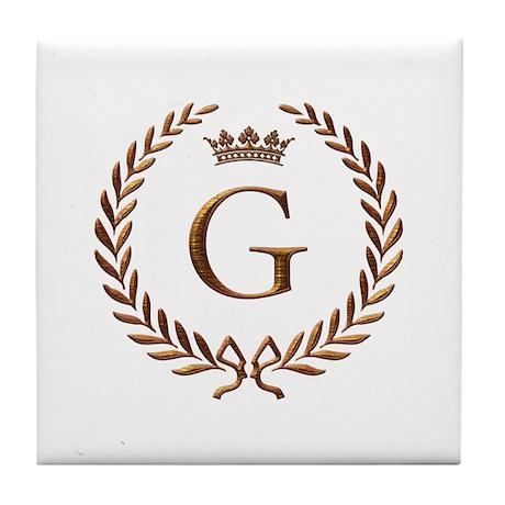 Napoleon initial letter G monogram Tile Coaster