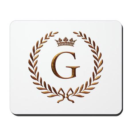 Napoleon initial letter G monogram Mousepad