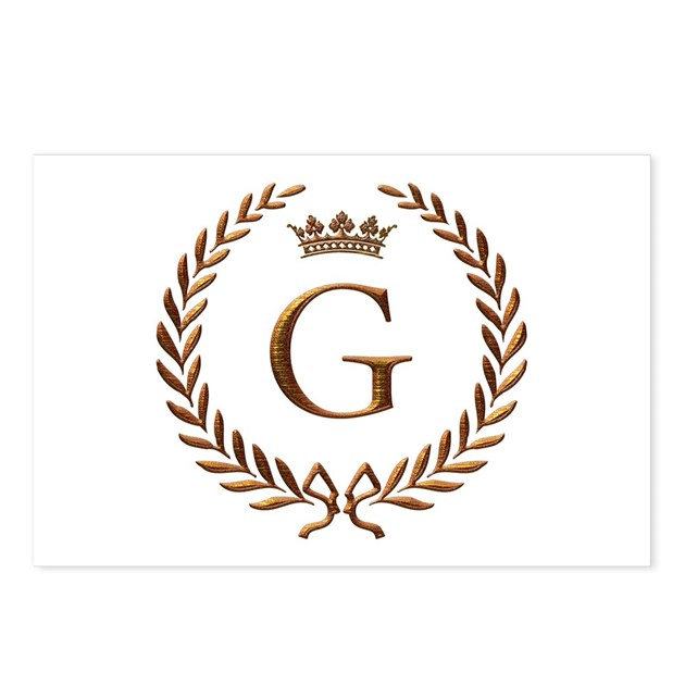 Napoleon initial letter G monogram Postcards (Pack by ...