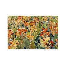 Maurice Prendergast Bed Of Flower Rectangle Magnet